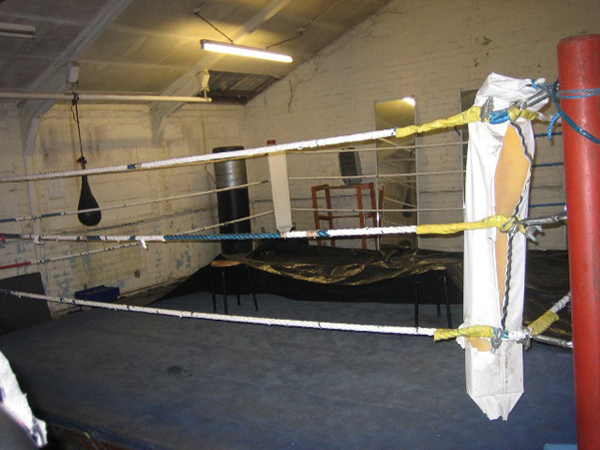 Aberaman Amateur Boxing Club before the work was completed.
