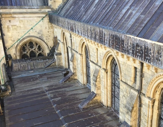 Canterbury Cathedral Quire Roof. Image courtesy of Purcell Architecture