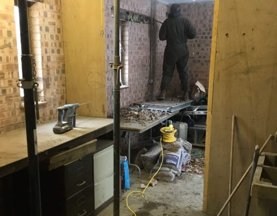 The Hamlet - renovations on the Rangers House. Image courtesy of Enovert Community Trust
