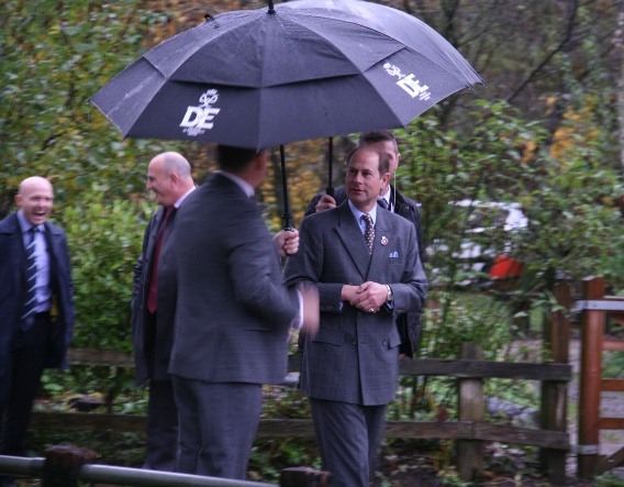 Official opening with HRH Prince Edward, Earl of Wessex, November 2019. Image courtesy of Enovert Community Trust