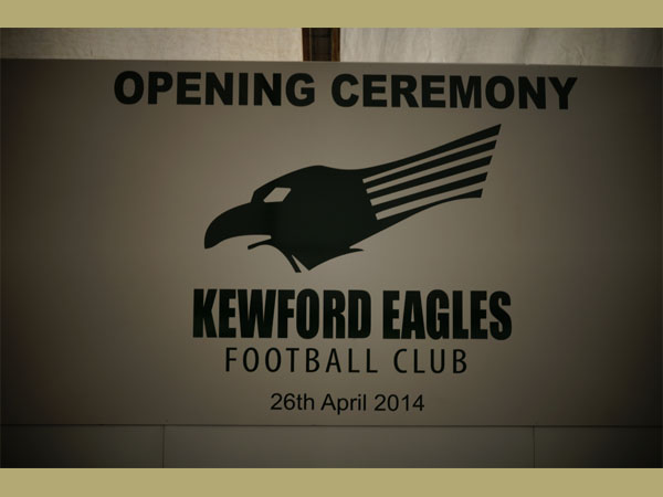 Kewford Eagles opening ceremony. Courtesy of Mark Crook.
