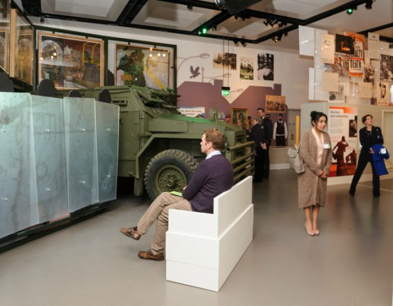 National Army Museum visitors viewing exhibits