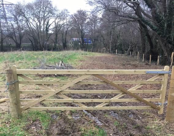 Gate installed. Image courtesy of Devon Wildlife Trust