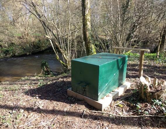 Water pump installed. Image courtesy of Devon Wildlife Trust