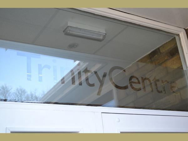 Trinity Centre, Ossett. Front door.