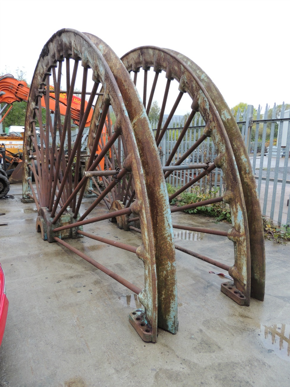 As part of the project the wheel underwent refurbishment.